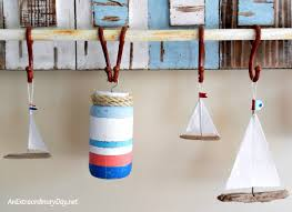 diy nautical home decor how to make fun nautical buoys with mason jars an extraordinary day