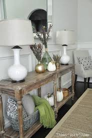 honey we u0027re home fall decor console styling need to look at