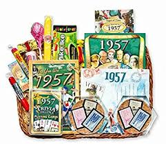 anniversary gift basket 60th birthday or 60th anniversary gift basket home