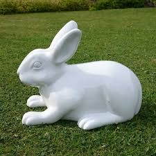 rabbit garden ornament white new garden style