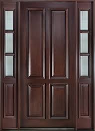 Solid Mahogany Exterior Doors Front Door Custom Single With 2 Sidelites Solid Wood With