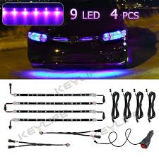 Purple Led Light Strips by 4x 12 U0026 034 New Purple Flexible Footwell Interior Led Underdash