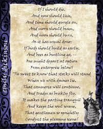 A Halloween Poem If I Should Die By Emily Dickinson Poem Halloween Print With
