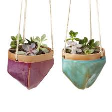 hanging planters valley hanging planter cermanic planters uncommongoods