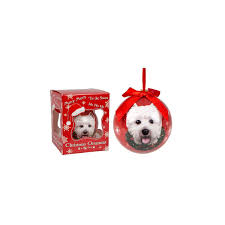 west highland terrier christmas tree bauble westie xmas decorations