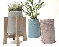 cement plant pot etsy
