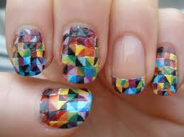 colorful kaleidoscope nail art tutorial youtube