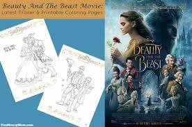 beauty beast movie latest trailer u0026 printable coloring