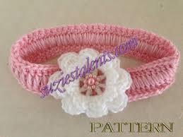 baby crochet headbands pt061 headband pattern baby to elastic headband