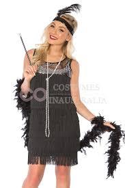 deluxe ladies 1920s roaring 20s flapper costume sequin ganster