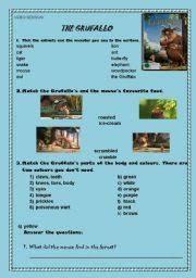 english worksheet the gruffalo animation ws 4 pages 8