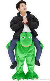 discount costumes the frog ride on me personalized prosthetic leg mascot costume