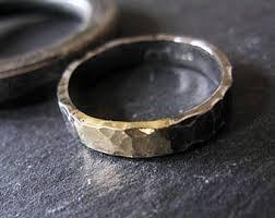 mens rustic wedding bands rustic wedding band etsy