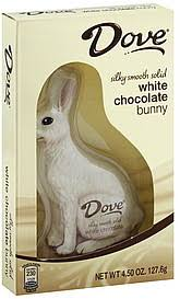 white chocolate bunny dove white chocolate bunny 4 5 oz nutrition information shopwell