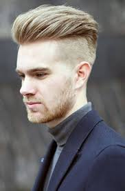 men haircuts shaved sides blonde trendy mens haircuts with many