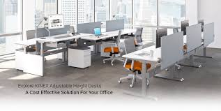 Adjustable Height Office Desk by Office Furniture Heaven