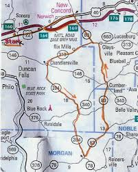 Map Of Holmes County Ohio by Se Ohio Self Guided Rides