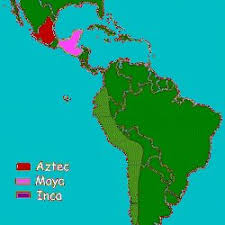 aztec mayan inca map history for aztecs and inca pearltrees