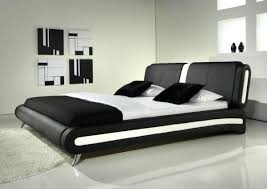 Black Leather Sleigh Bed King Size Leather Bed Frame King Size Bedroom Leather Bed Frame