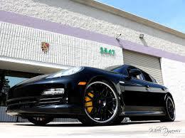 Porsche Panamera Black Rims - 22