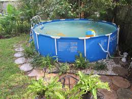 backyard above ground pool maintenance home outdoor decoration