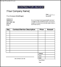 free contractor invoice sample invoice form 10 free documents