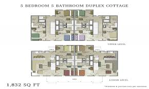 Five Bedroom Home Plans by Duplex House Plans 5 Bedrooms 3 Bedroom Duplex Floor Plans 5