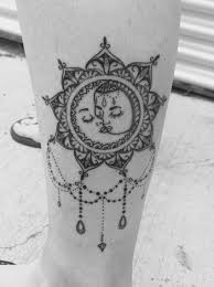 vintage boho sun and moon mandala tattoo love it tatttttos