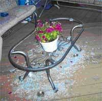 Martha Stewart Patio Table Glass Replacement Sounds Of Summer Martha Stewart Tables Shattering