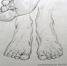 day 162 u2013 feet front view every day a drawing