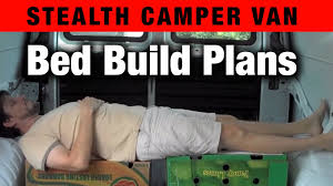 living in a van bed build plans with measurements youtube