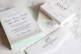 mint and gold wedding invitations with elle dee designs medicine