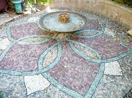 garden mosaic ideas diy pebble mosaic patio my beautiful boho garden haven pinterest