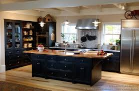black cabinets in kitchen living room decoration