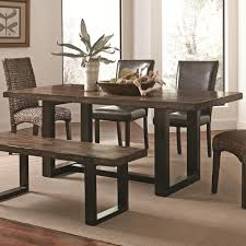 casual dining room sets coaster 121641 westbrook casual dining table rustic two tone