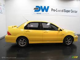 mitsubishi yellow 2002 lightning yellow mitsubishi lancer oz rally 16687043 photo