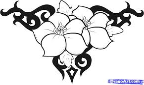 how to draw flower designs by tattoos pop culture