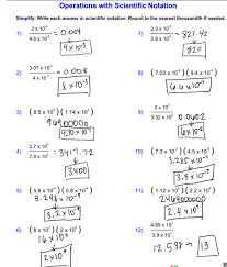 scientific notation operations worksheet worksheets releaseboard