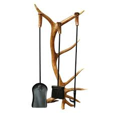 home furniture and decor antler furniture and decor 4 piece antler fireplace tool set camo