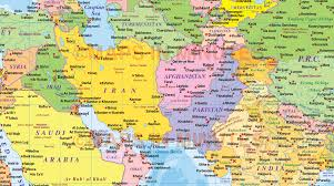 West Asia Map by West Asia Political Map