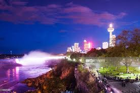 niagara falls light show niagara falls light show stock photo getty images