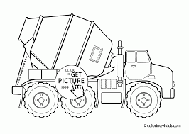 cool cement truck coloring page for kids transportation coloring