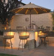 Patio Umbrellas With Led Lights Innovative Patio Umbrella With Led Lights Galtech 939 Aluminum