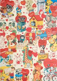 retro valentines find of the day retro s cards wrapping paper gift