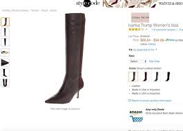 s boots amazon ivanka s boots are getting some pretty pointed reviews on amazon