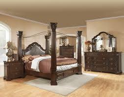 Dark Wood King Bedroom Set California King Canopy Bedroom Sets Canopy Bedroom Sets With