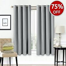 Room Darkening Curtain Rod Room Darkening Drapes Blackout Curtains 2 Panels Set Room