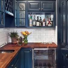 blue kitchen cabinets with wood countertops blue cabinets butcher block counter search