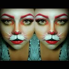 white rabbit halloween makeup ig lucy munguia do me up makeup