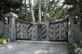 outstanding wooden railing fences also wooden driveway gates as